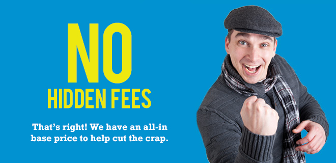 Bin rentals with no hidden fees
